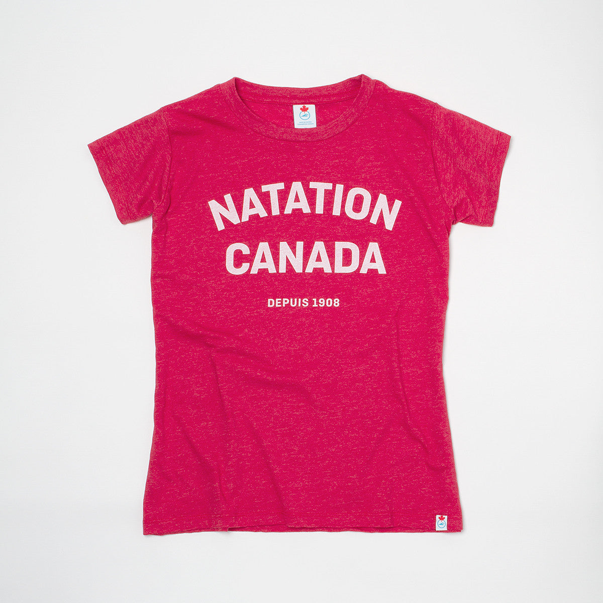 Women's Natation Canada Heather Red Short Sleeve T-shirt