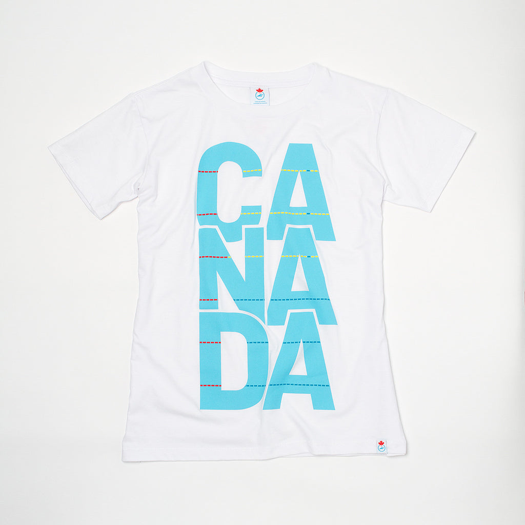 Women's CANADA Pool Graphic T-shirt White