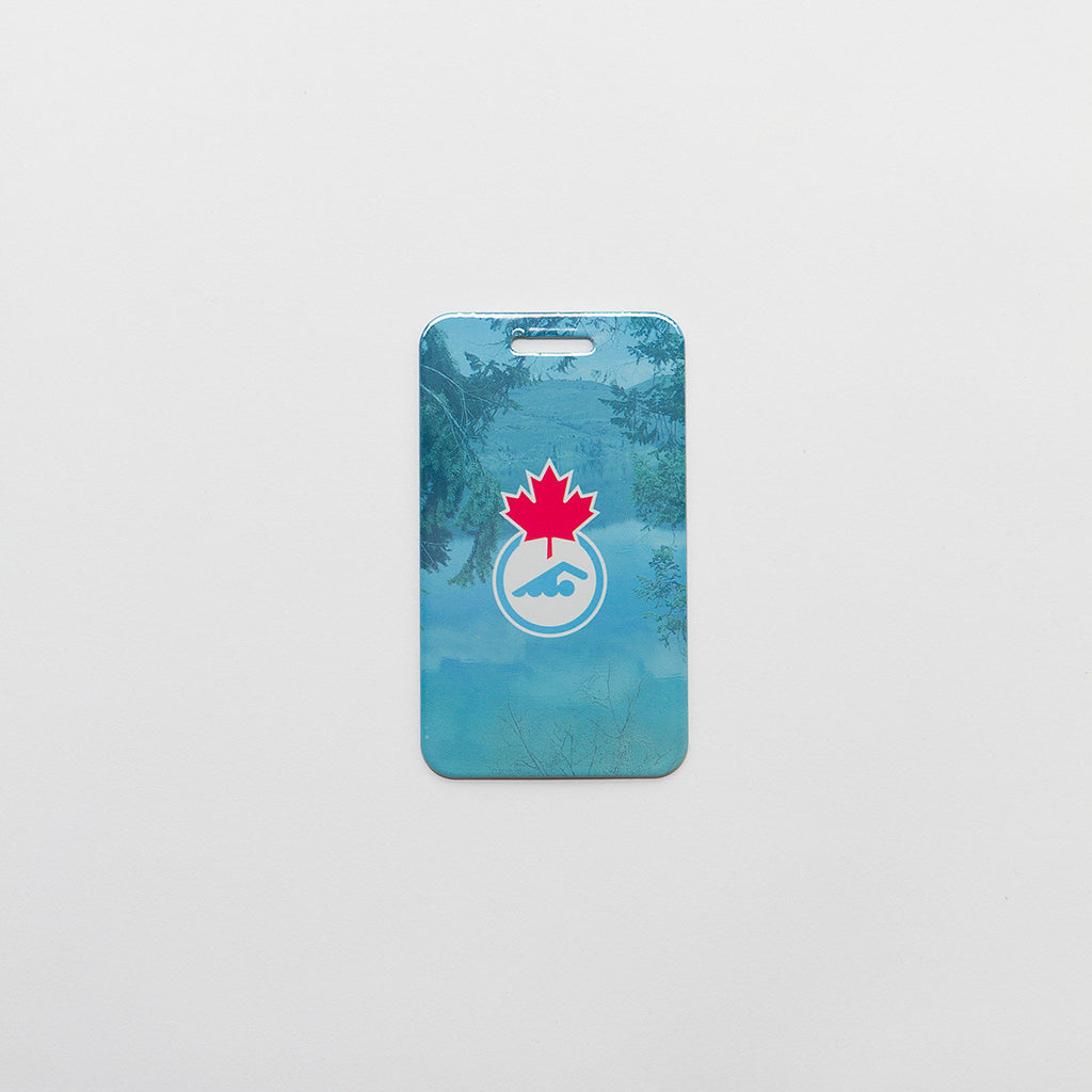 Swimming Canada Luggage Tag
