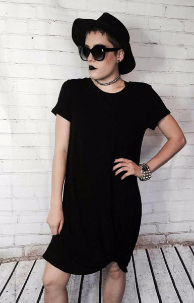 Black T-Shirt Knot Dress