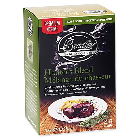 Bradley Smokers: Hunter's Blend Bisquettes (48 Pack)