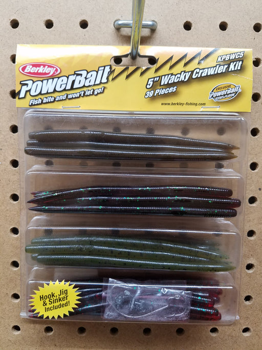 "Berkley Powerbait 5"" Wacky Crawler Kit (39 Pieces)"
