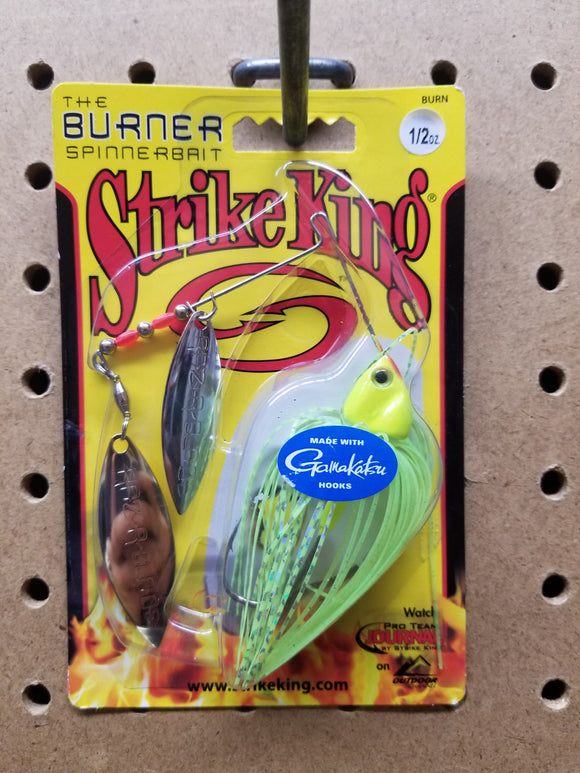 Strike King: The Burner Spinnerbait 1/2oz (Chartreuse)