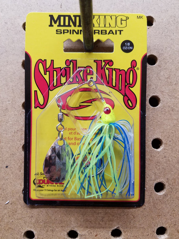 Strike King Mini-King Spinnerbait 1/8 OZ (Yellow)