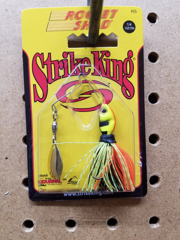 Strike King Rocket Shad Spinner Bait 1/4 OZ (Yellow)
