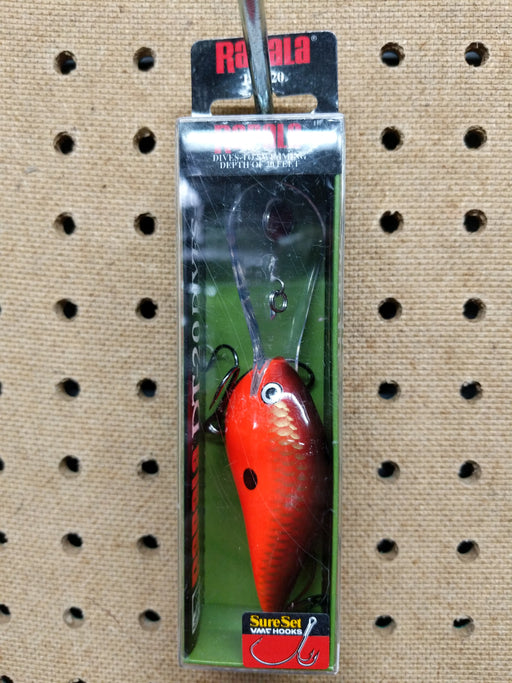Rapala: DT-20 Dives-To- Swimming Depth Of 20Feet (Red Crawdad)