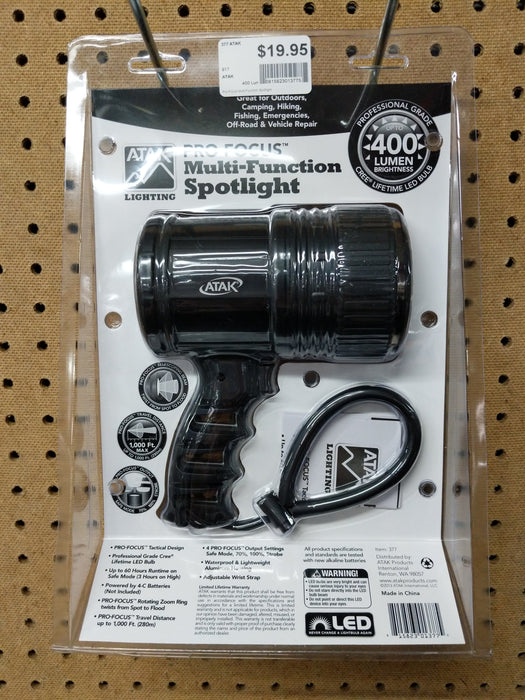 Atak: Pro-Focus Multi- Function Spotlight 400 Lumens