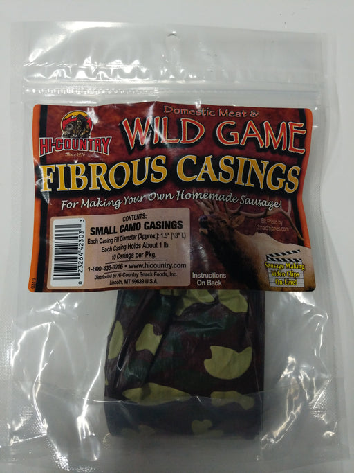 Hi-Country: Domestic Meat & Wild Game Fibrous Casings (Small Camo Casings)