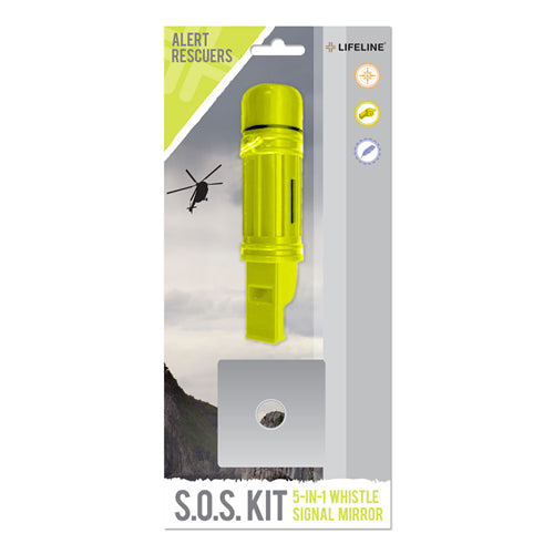 Lifeline S.O.S Kit 5-in1 Whistle & Mirror