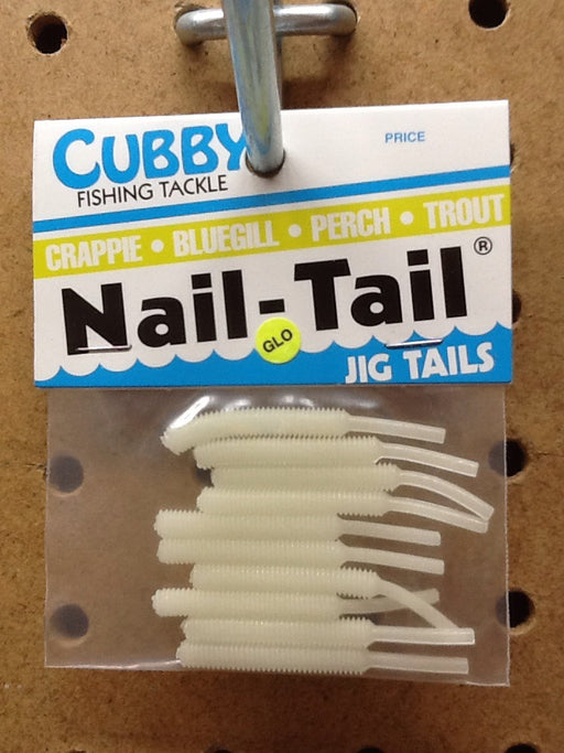 "Cubby: Nail-Tail Jig Tails 1.75"" (Glow)"