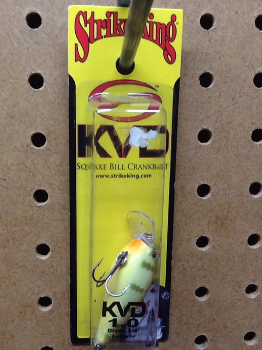Strike King: KVD Square Bill Crankbait 1.0 (Chartreuse Perch)