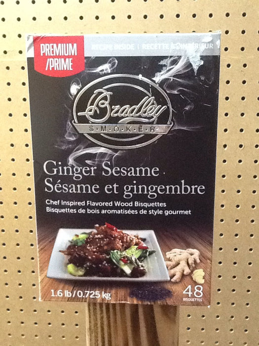 Bradley Smokers: Ginger Sesame Bisquettes (48 Pack)