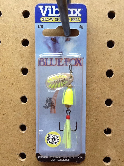 Blue Fox: Vibrax Mid Depth 1/8oz (Glow/ Chartreuse)