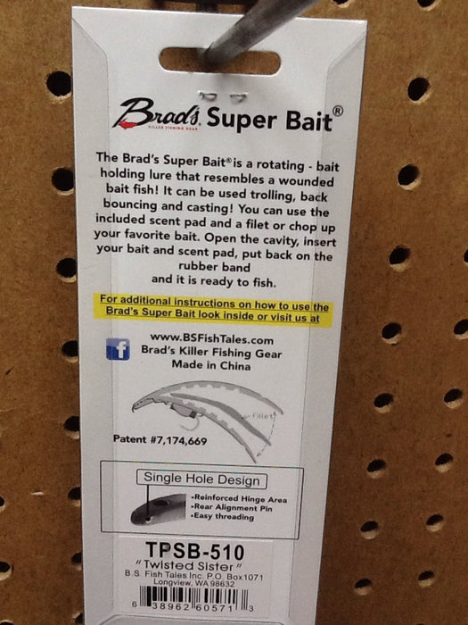 "Brad's: Super Bait 4.5"" (Twisted Sister x2)"