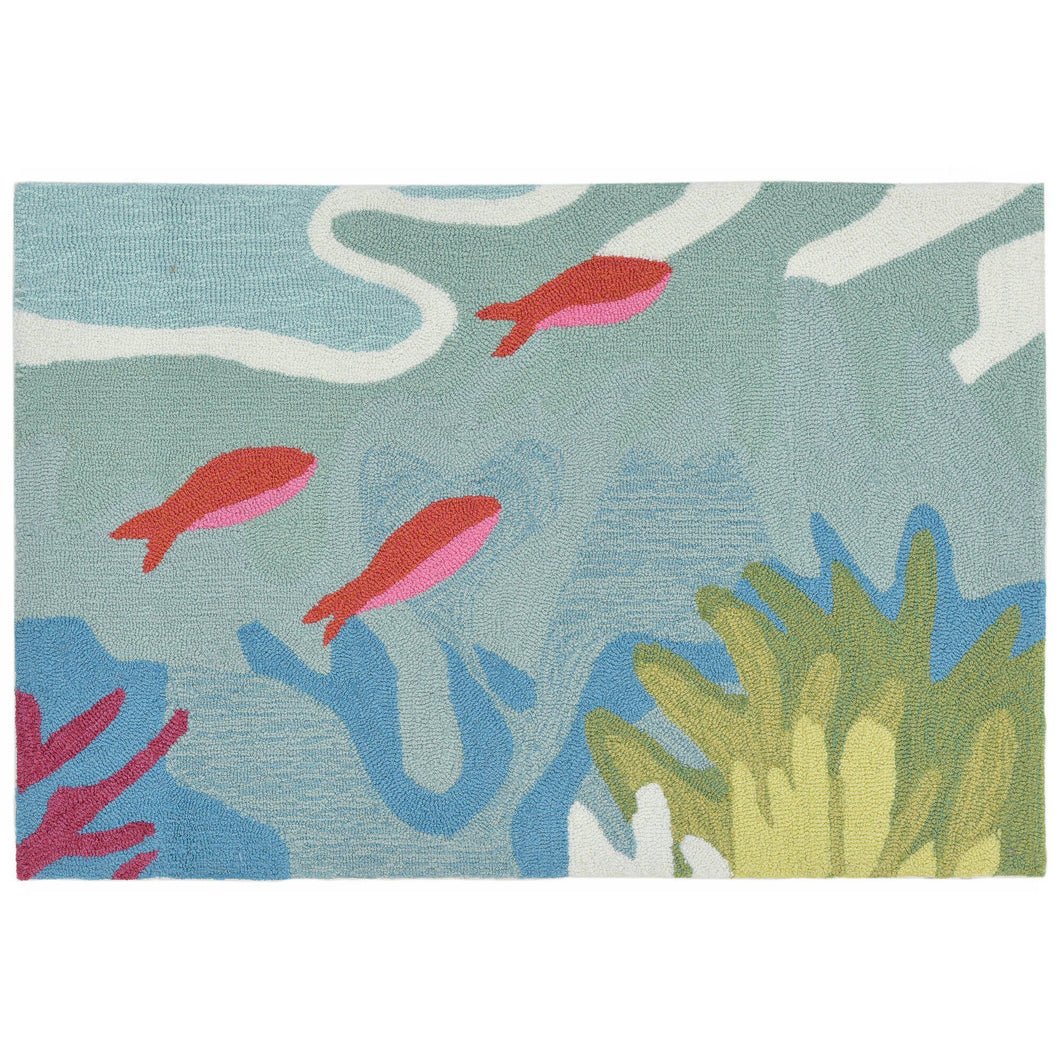Ocean View Hand Tufted Indoor Outdoor Area RugsHome Womens Apparel Mermaid Life