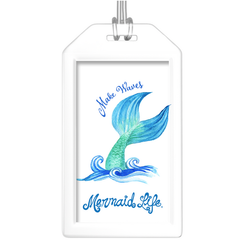 Make Waves Mermaid Luggage Tags (Set of Two)Accessories Womens Apparel Mermaid Life