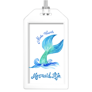 Make Waves Mermaid Luggage TagsAccessories Womens Apparel Mermaid Life