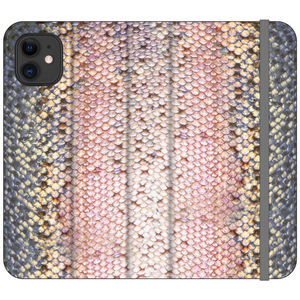 Pink Trout Vegan Fish Leather Phone WalletAccessories Womens Apparel Mermaid Life