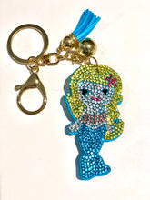 Load image into Gallery viewer, Sparkle Mermaid Rhinestone Clasp KeychainAccessories Womens Apparel Mermaid Life