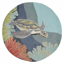 Load image into Gallery viewer, Gliding Sea Turtle Hand Tufted Indoor Outdoor Area RugsHome Womens Apparel Mermaid Life