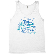 Load image into Gallery viewer, What Happens at the Beach Tank TopApparel Womens Apparel Mermaid Life