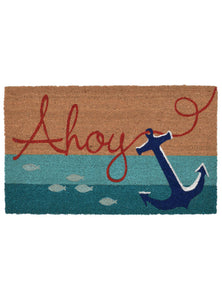 Ahoy Anchor Natural Door Mat 30x18Home Womens Apparel Mermaid Life