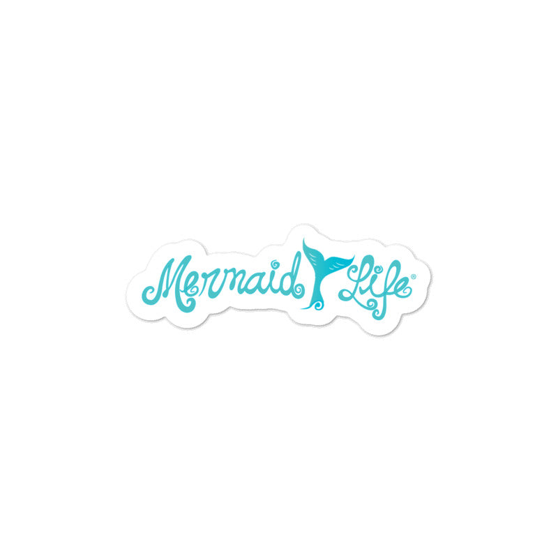 Mermaid Life Tail Sticker BlueDecals Womens Apparel Mermaid Life