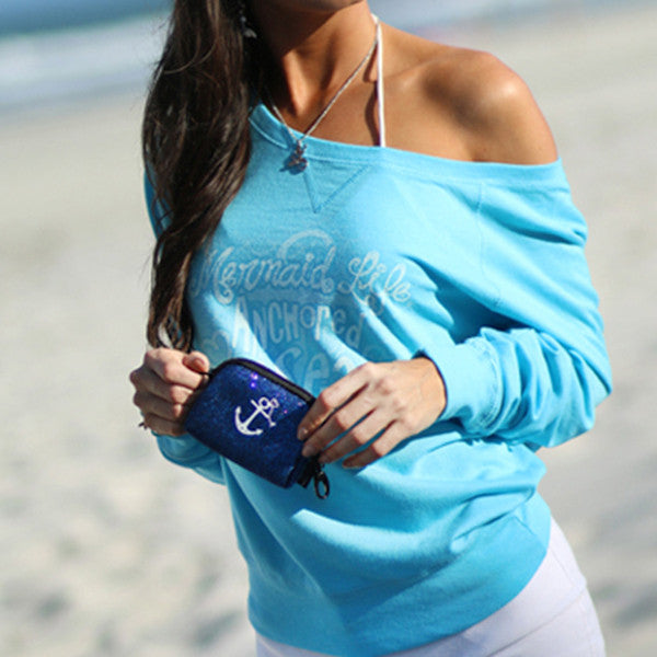 Anchored Slouch Sweatshirt JuniorApparel Womens Apparel Mermaid Life