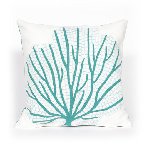 Coral Sea Fan Indoor/Outdoor Pillow AquaHome Womens Apparel Mermaid Life