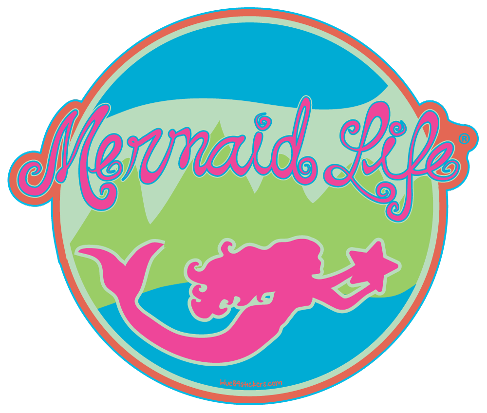 Swimming Mermaid StickerDecals Womens Apparel Mermaid Life