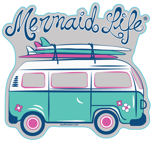 Surfer Van StickerDecals Womens Apparel Mermaid Life