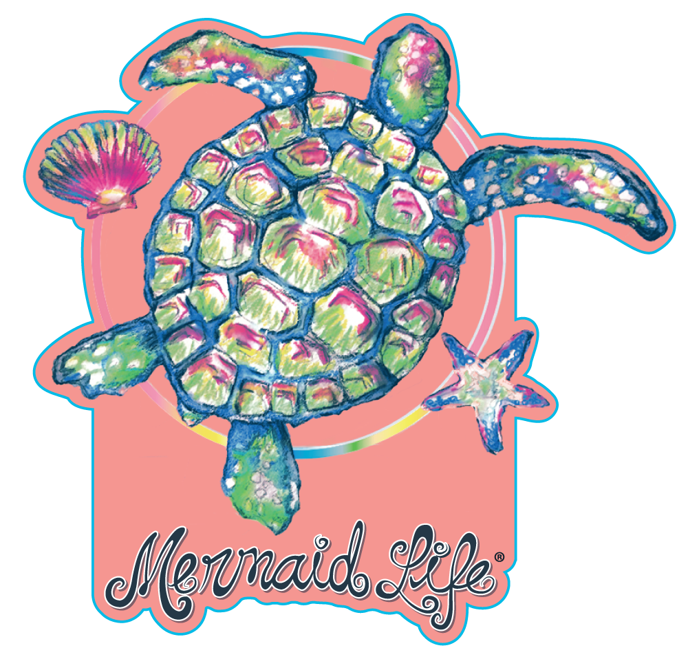 Sea Turtle StickerDecals Womens Apparel Mermaid Life