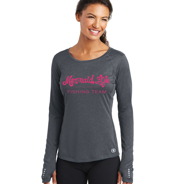 Mermaid Life Fishing Team ShirtPerformance Womens Apparel Mermaid Life