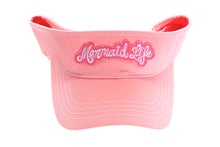 Load image into Gallery viewer, Mermaid Life Visor PinkHeadwear Womens Apparel Mermaid Life