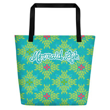 Load image into Gallery viewer, Sea Turtle Splendor Beach Bag LargeBags Womens Apparel Mermaid Life
