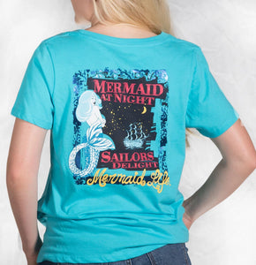 Mermaid at Night TeeApparel Womens Apparel Mermaid Life