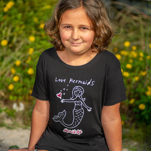 Mermaid Life® Love Mermaids TeeMermaid Life® Girl Womens Apparel Mermaid Life