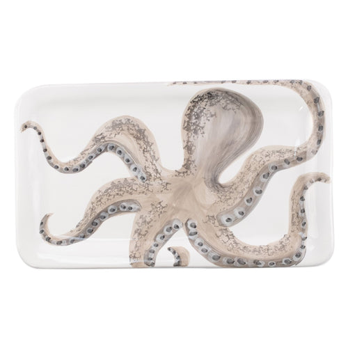 VIETRI Marina Octopus Rectanglar PlatterHome Womens Apparel Mermaid Life