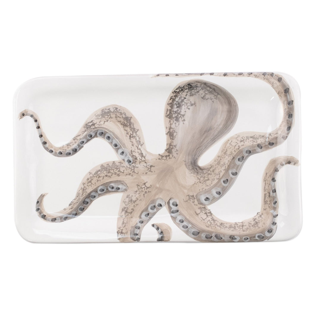 VIETRI Marina Octopus Rectanglar Platter - Mermaid Life