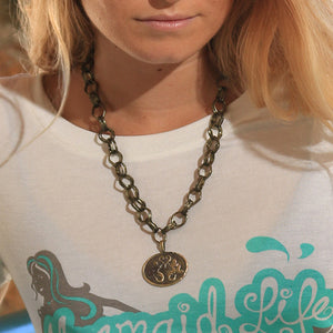 Mermaids at Heart Medallion NecklaceJewelry Womens Apparel Mermaid Life