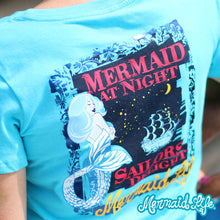 Load image into Gallery viewer, Mermaid at Night TeeApparel Womens Apparel Mermaid Life