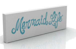 Mermaid Life Decor Double Sided Wooden SignDisplay Womens Apparel Mermaid Life