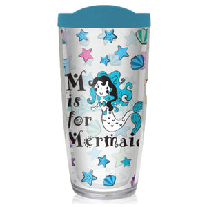 Mermaid Life 16oz Reusable Tumbler M is for Mermaid - Mermaid Life