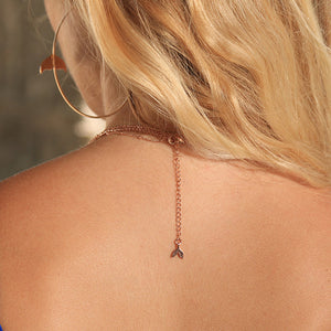 Rose Gold Mermaid Stacked Necklace - Mermaid Life