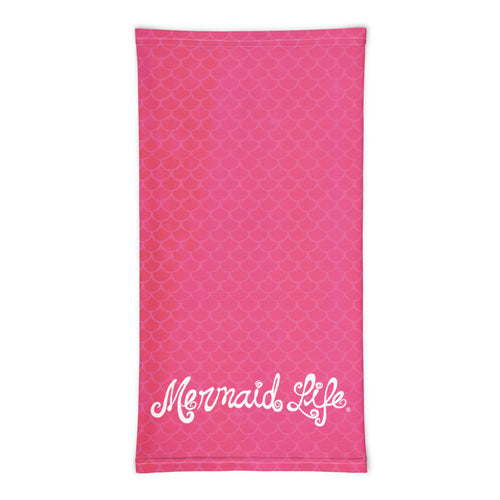 Mermaid Life Pink Scales Sun Protective Sun BuffAccessories Womens Apparel Mermaid Life