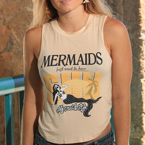 """Mermaids just want to have SUN"" Tank"