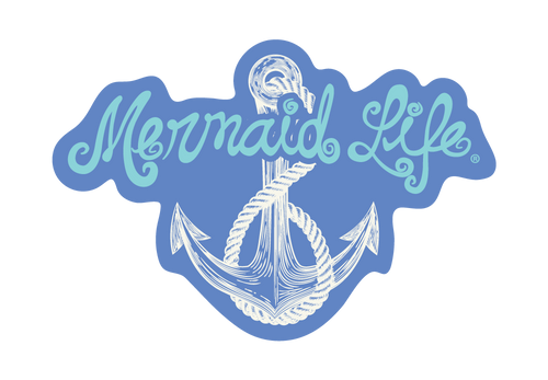 Mermaid Anchor StickerDecals Womens Apparel Mermaid Life