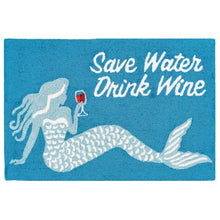 Load image into Gallery viewer, Save Water Drink Wine Mermaid RugHome Womens Apparel Mermaid Life