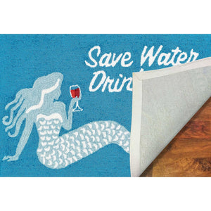 Save Water Drink Wine Mermaid RugHome Womens Apparel Mermaid Life