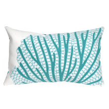 Load image into Gallery viewer, Coral Sea Fan Indoor/Outdoor Pillow AquaHome Womens Apparel Mermaid Life